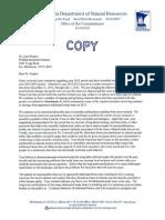 DNR letter to bear researcher Lynn Rogers
