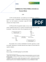 LTN - Cálculo da Rentabilidade dos Títulos Públicos ofertados no Tesouro Direto