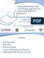 Integrated facility and community approach in improving MNCH in Tanzania