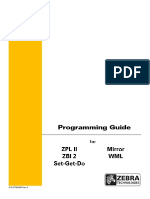 Zebra ZPL Programming Guide   Comma Separated Values   Computing