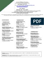 Hot Sheet January 18-25, 2013