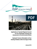 Company report on fracking in New Zealand