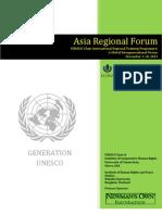 Asia Regional Forum Schedule