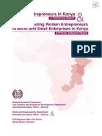 Women Entrepreneurs in Kenya & Factors affecting Women Entrepreneurs in Micro and Small Enterprises in Kenya