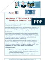 "Workshop, 2/8/2013, ""Recruiting & Welcoming Immigrant Talent to Cleveland"""
