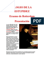 Erasmo de Rotterdam - Elogio de La Estupidez