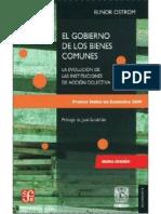 Ostron, Elinor (2000) - El Gobierno de Los Bienes Comunes (COMPLETO)