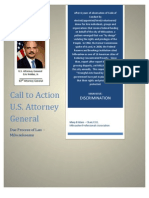 OPEN LETTER - United States Attorney General Eric Holder Jr.  A Formal Complaint and Call to Action