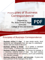 Principles of Business Correspondence