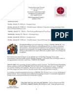 What's Happening At Trinity, January 11, 2013