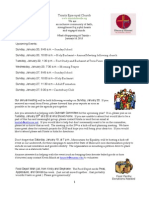 What's Happening At Trinity, January 18, 2013