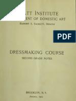 Pratt Institute Dressmaking Course