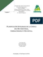 Plan de Manejo Integral de la Cuenca del Río Cristóbal, Chimaltengango y Escuintla.