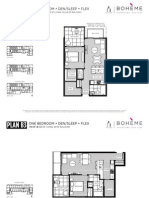 Boheme 1 Bedroom Den Floorplans 760-767sf Mike Stewart