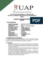 Plan de Estudio - Equipo y Maquinaria Pesada