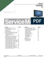 Philips 37PFL7312 42PFL7312 Chasis LC4.8L LA Manual Servicio