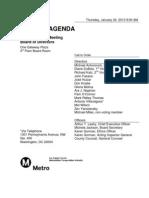 Metro Board meeting agenda, Jan. 24
