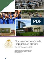 Le Bilan du Gouvernement de Laurent Lamothe (2012 - 2013)