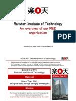 Rakuten Institute of Technology