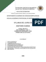 MH0417_Anatomía Humana 2009