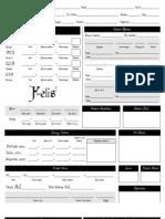 Felis D12 Character Sheet