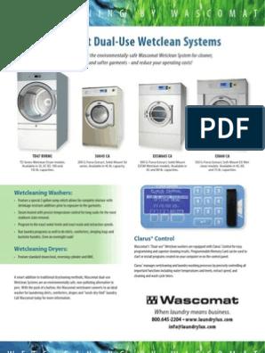 Wascomat Td75 Td50 Td30 Washing Machine Clothes Dryer