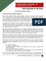 Rape Reactions of the Victim