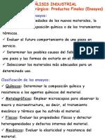 ANALISIS INDUSTRIAL DE NESAYOS MECÁNICOS