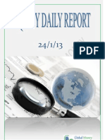 Daily Equity Report By Global Mount Money 24-1-2013