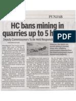 Ban on Mining
