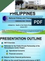 NKTI's Presentation to ADB on Hemodialysis Project (Public-Private Partnership)