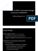 Metabolomic analysis during glucose infusion