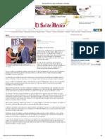 14-01-13 El Sol de México - Entrega Moreno Valle certificados a docentes