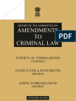 Justice Verma Report on Amendments to Criminal Law