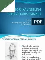 teori kaunseling skinner