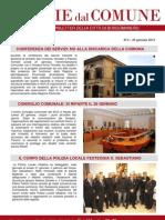 Notizie dal Comune di Borgomanero del 24 Gennaio 2013