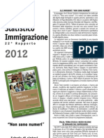 Dossier Caritas Immigrazione 2012