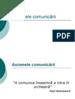 axiomele comunicarii