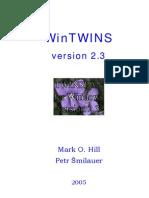 WinTwins TWINSPAN for windows
