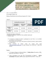 Ficha de inscrição Jornada 2013