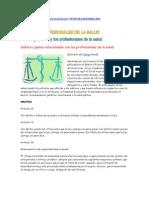 El Codigo Penal y Los Profesionales de La Salud