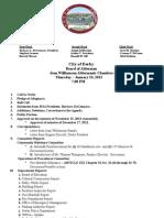 Derby BOA Agenda, Jan. 24