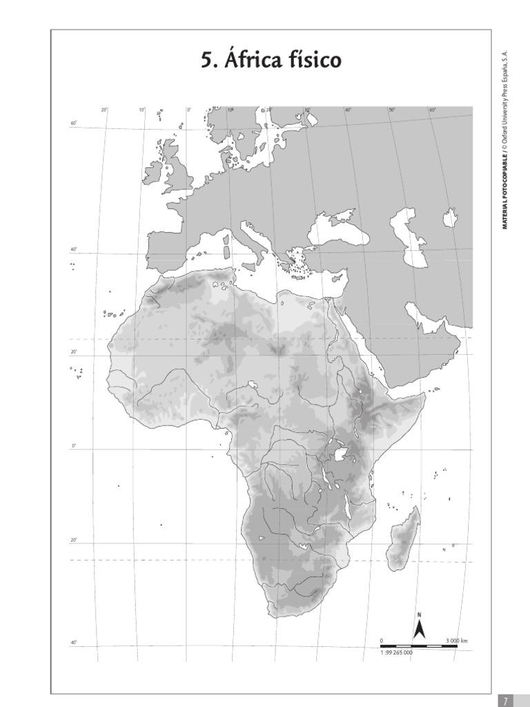 Actividades Mapas Mudos Africa Fisico