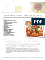 Sweet Potato Gnocchi with Sage and Garlic
