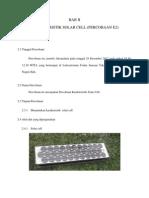 Laporan Praktikum solar sel