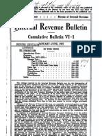Bureau of Internal Revenue Cumulative Bulletin VI-1 (1927)