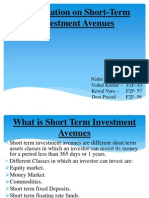 Presentation on Short-Term Investment Avenues final.pptx