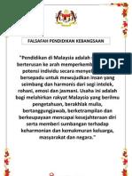 FALSAFAH PENDIDIKAN KEBANGSAAN A4 SIZE (2013)