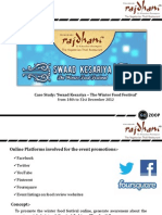 Gozoop - Rajdhani Case Study on Swaad Kesariya Winter Food Festival