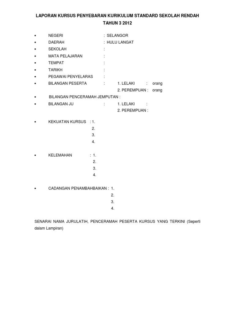 Format Laporan Ladap Sekolah Ke Ppd